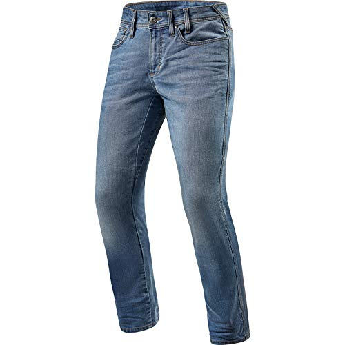 Preisvergleich Produktbild Revit Brentwood SF Motorrad Jeans Hellblau 33 L34