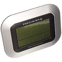 PRECISION LCD RADIO CONTROLLED DIGITAL WALL MOUNTABLE CLOCK