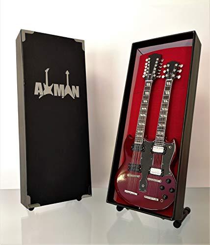 Jimmy Page (Led Zeppelin): 1970s Gibson EDS-1275 Doubleneck - Miniatuur Gitaar Replica (VK Verkoper)