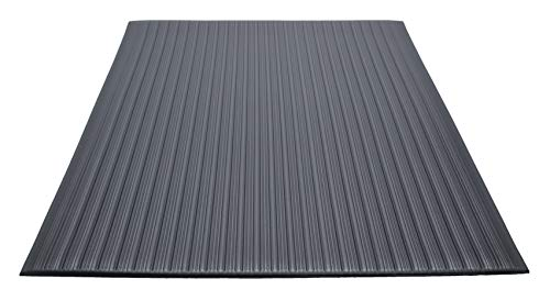 Guardian Air Step Anti-Fatigue Floor Mat, Vinyl, 2'x60', Black, Reduces fatigue and discomfort, Can be easily cut to fit any space