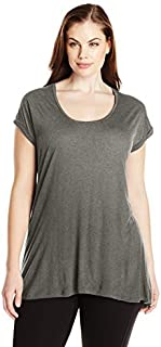Paper + Tee Women's Plus-Size Scoop-Neck Top