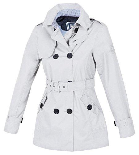 Marinepool Damen Jacke Messina Trenchcoat, White, XS