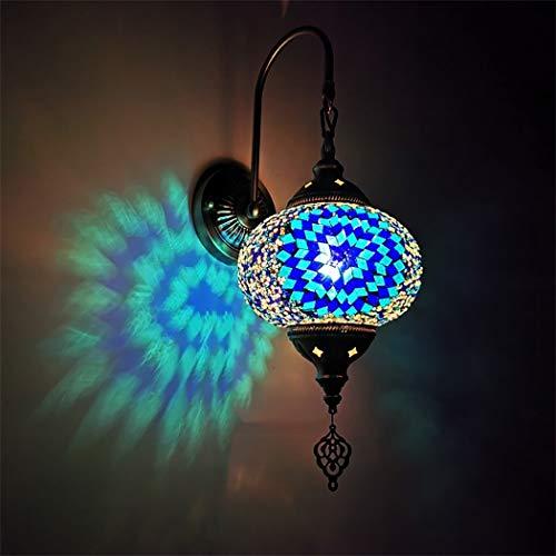 Wandlampen, arabische Mosaik Wandleuchten, Marokkanische Glas Laterne Wand Beleuchtungskörper, Türkisch Wandleuchten für Flur,H