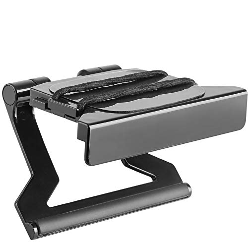 WALI TV Top Shelf 5 Inch Flat Panel Adjustable Clip Mount Holder for Streaming Devices, Media Boxes, Speakers and Home Decor (TSH003), 1 Pack, Black