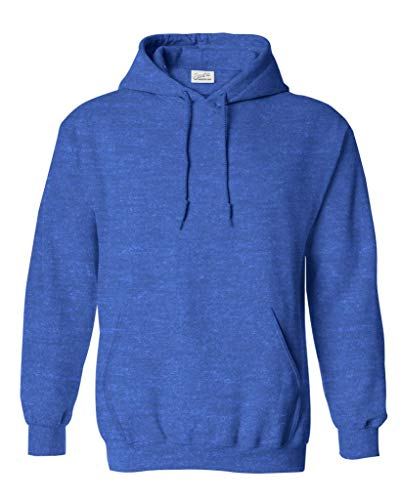 Men's Hoodies - Fleece Pullover Hooded Sweatshirt,Small Heather Royal