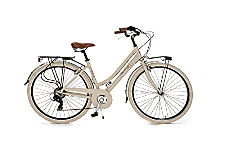 Via Veneto Bicicleta 605 Retro, Aluminio, Mujer, Paseo, Vintage, Color Cremal, by Airbici