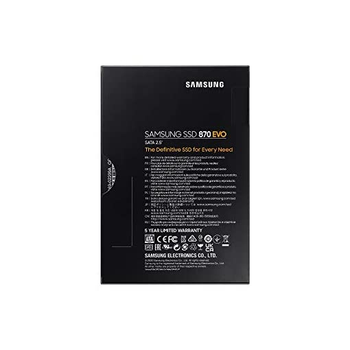 "Samsung SSD 870 EVO, 1 TB, Form Factor 2.5"", Intelligent Turbo Write, Magician 6 Software, Black (Internal SSD) 7"