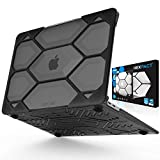 IBENZER Hexpact MacBook Air 13 Inch Case 2019 2018 Release New Version A1932, Heavy Duty Protective Case for Apple Mac Air 13 Retina with Touch ID, Black, HAT13CYBK
