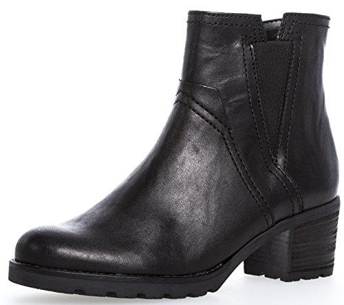 Gabor Damenschuhe 72.804.17 Damen Stiefeletten, Boots, Stiefel, in Comfort-Mehrweite, mit Reißverschluss Schwarz (schwarz (Mel.)), EU 5.5