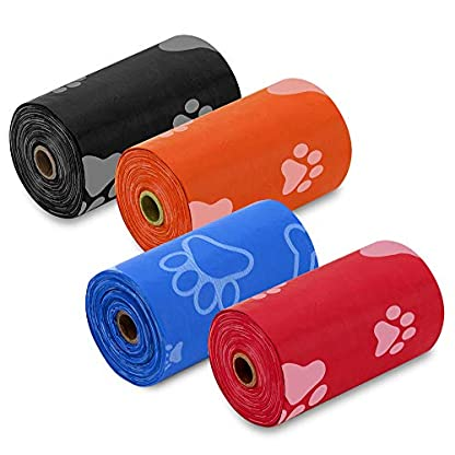 Best Pet Supplies Dog Poop Bags for Waste Refuse Cleanup, Doggy Roll Replacements for Outdoor Puppy Walking and Travel, Leak Proof and Tear Resistant, Thick Plastic - Mixed Colors, 900 Bags 3