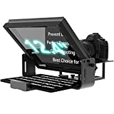 12-inch Large Portable Teleprompter Suitable for DSLR and Camcorders, Optical Splitter Glass and Good for Tablets and Smartphones, Video Making Tools, Aluminum Body, with a Bag, No Assembly Required