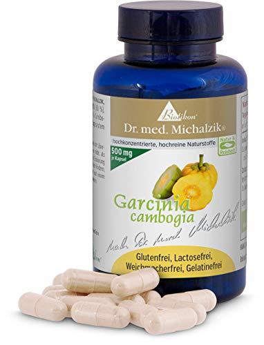 Garcinia Cambogia - 60{5533f6751ee7d5ec8fb7fb3b715635936d251a11eadb84e2bc8fca1af042b34d} natürlichem hochdosiertem HCA - Garcinia Cambogia Frucht - Reich an Calcium, Eisen und Vitamin C von Natur aus -nach Dr. med. Michalzik - 90 Kapseln - ohne Zusatzstoffe - von BIOTIKON®