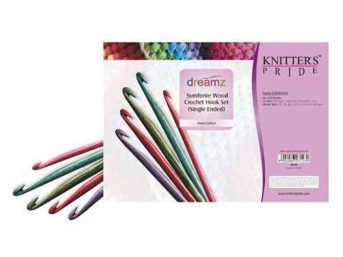 Knitter-s Pride Crochet Hooks Sets, Symfonie Wood Single...
