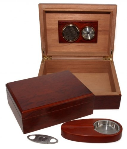 Abarco Finish Humidor-Set V-200 inkl. Lifestyle-Ambiente Tastingbogen