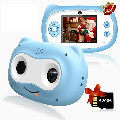 Product Image of the Kids Camera, 8 MP Digital Camera for Kids 3-10 Years Old, 1080P HD Shockproof...