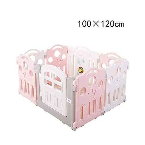 Great Features Of BJLWTQ Baby Playpen with Activity Panel, Plastic Infant Gate Safe Guard Portable F...
