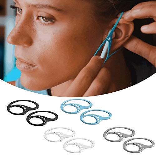 Universelle Silikon-Ohrhaken, Bluetooth-Kopfhörer-Ohrstöpselhalter, drahtloser Sport-Ohrhaken, Kopfhörer-Befestigungsring Kopfhörer-Anti-Drop-Halterung für Jogging-Sportlauftraining (2Pair)