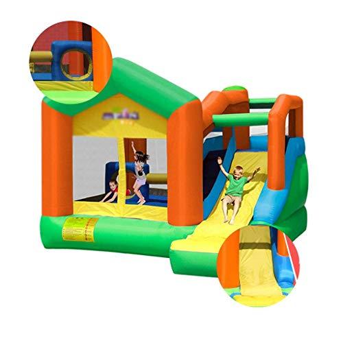 DSHUJC Barcos hinchables, castillo para guarderías, trampolín, niños al aire libre, Naughty Fort Toys, parque de atracción, equipamiento adecuado para parques y parques de juego, verde, 355*400*275cm