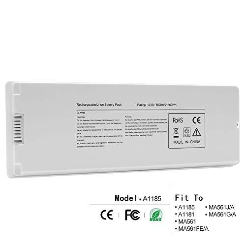 LQM 10.8V 5600mAh/60Wh New Replacement Li-ion Battery for Apple MacBook 13 A1185 A1181 MA561 MA561FE/A MA561G/A MA561J/A