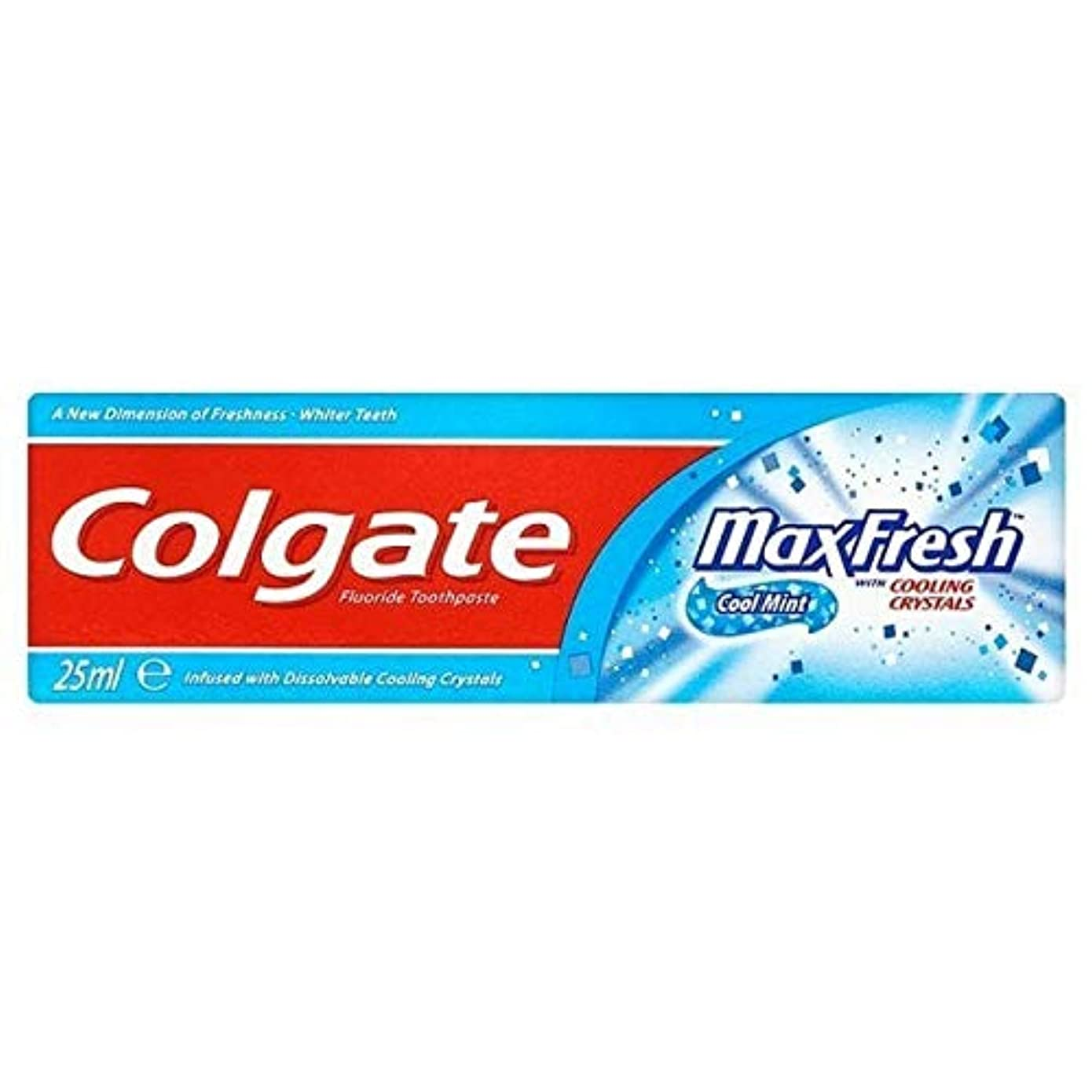 ご飯亡命どきどき[Colgate ] 結晶歯磨き粉旅行25ミリリットル新鮮なコルゲートマックス - Colgate Max Fresh with Crystals Toothpaste Travel 25ml [並行輸入品]