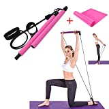 YaphetShuya Tragbares Pilates-Bar-Set mit Widerstandsband, Yoga, Pilatesstange mit Fußschlaufe, Yoga, Pilates für Yoga, Stretch, Twisting., rose