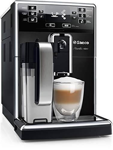 Saeco picobaristo super automatic espresso machine, countertop, piano black, hd8927/37 8 the largest variety from a compact machine: brews 11 coffee varieties enjoy up to 5, 000 cups of coffee without descaling delicious hot cappuccino and latte macchiato at one touch