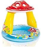 BABA FAB Big PVC Inflatable Swimming Pool Play Centre Water Park Swimming Pool Slides Inflatable Play Center (Mushroom Baby Pool)