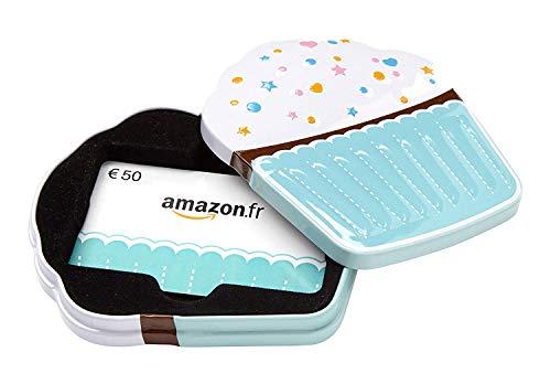Carte cadeau Amazon.fr - €50 - Dans un coffret Cupcake