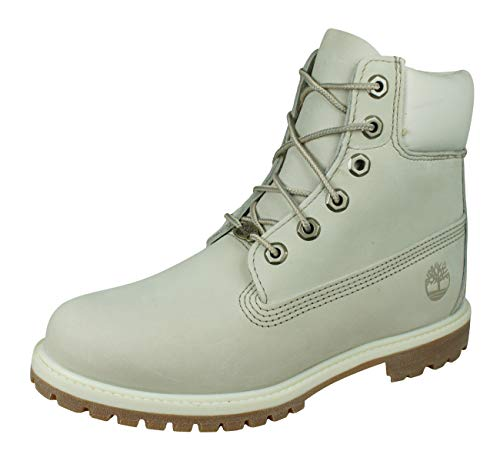 Timberland 10360 6 in Premium FTB, Damen Stiefel Weiß(Elfenbein), 39.5 EU(8.5 W)