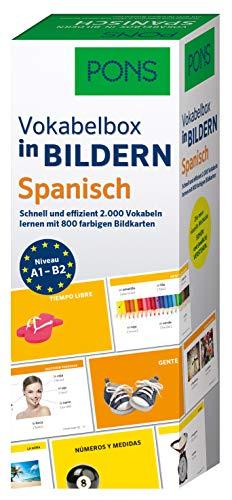 PONS Vokabelbox in Bildern Spanisch: Schnell & effizient Vokabeln lernen mit 2.000 Wörter auf 800 farbigen Bildkarten