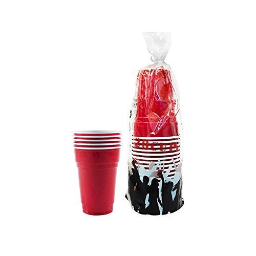 Pack de x20 Original Red Cups Officiels | Gobelets Américains 25cl Rouges | Beer Pong | Qualité Premium | Gobelets en Plastique Réutilisables | Lavables Main et Lave-Vaisselle | OriginalCup®