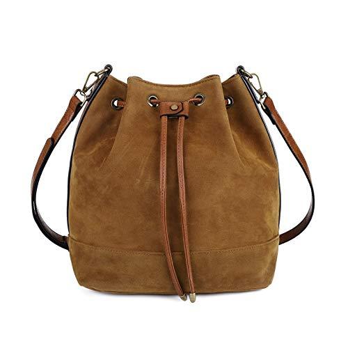 Drawstring Bucket Bag for Women Large Crossbody Purse Handbag Shoulder Bag