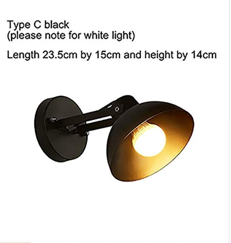 LED Wandleuchte Wohnzimmer Wandleuchte Wandleuchte E27 Nordic Holz Gürtel Wandleuchte wei schwarz, 4