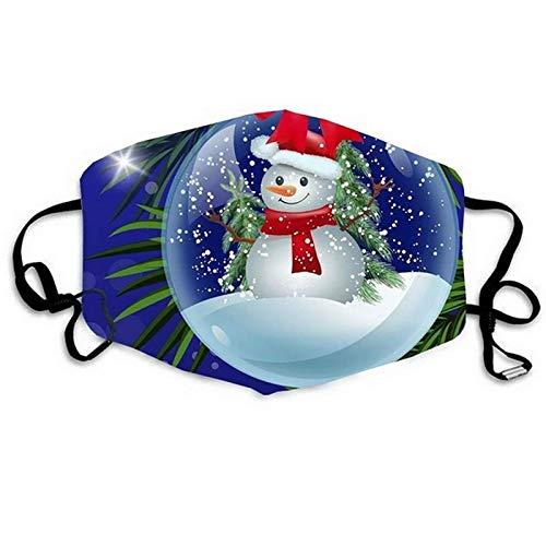 N / A Waschbare Gesichtsmaske aus Stoff mit verstellbaren Ohrriemen, Wiederverwendbare staubdichte Weihnachtsstoffmaske, geeignet für HomeOfficeArbeiten im Freien zu Weihnachten
