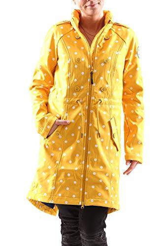 Blutsgeschwister Swallowtail Promenade Coat Damen Jacke Softshell Mantel, Größe:L, Farbe:Gelb (North North West)