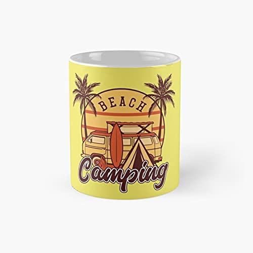 Beach Camping Classic Mug | Best Gift Funny Coffee Mugs 11 Oz