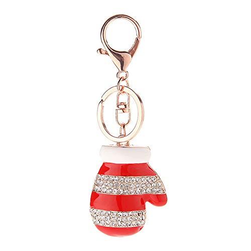 Meigold Porte-clés de Noël en métal Rouge 11cm Handschuh