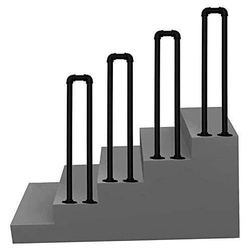 Handläufe für Treppen U-förmiger Stufenhandlauf 1 Stufen, Treppengeländer aus schwarzem Schmiedeeisen für den Innen- oder Außenbereich, 35cm-100cm Handläufe für den Villa Hotel Garden ( Size : 100cm )