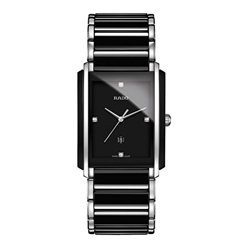 Rado Integral Jubile Two-tone Black Ceramic and Stainless Steel Mens Watch - R20206712