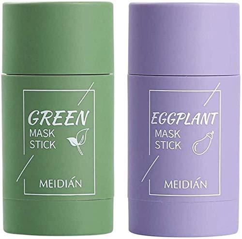 Maschera viso all'argilla purificante al tè verde, stick maschera verde, maschera all'argilla...