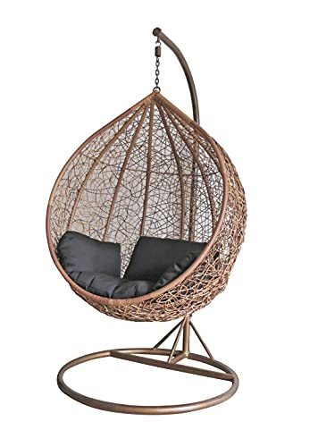 dirty pro tools™ Brown Colour Rattan Swing Chair