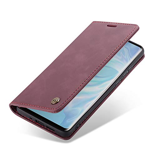 Handyhülle, Premium Leder Flip Schutzhülle Schlanke Brieftasche Hülle Flip Hülle Handytasche Lederhülle mit Kartenfach Etui Tasche Cover für Huawei P30, P30 Pro, P30 Lite