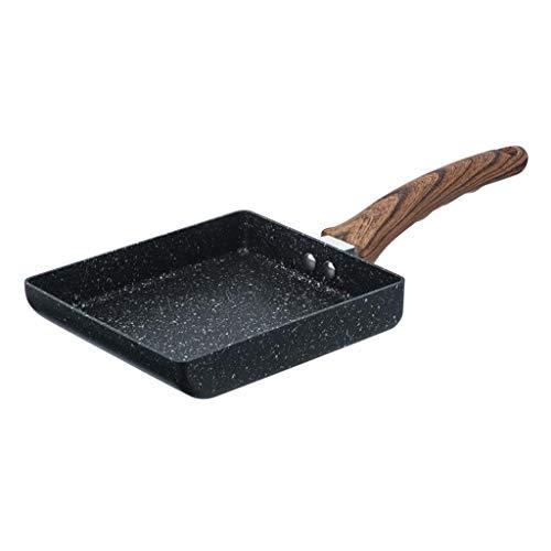 Japanese Aluminium Omelet Pan with Wooden Handle,Non-stick Coating Fry Eggs Pan Pancake Pot,Uniform Heat Dissipation,Great for Burger,Eggs,Ham,Pancake,takoyaki,dorayaki and Okonomiyaki,etc