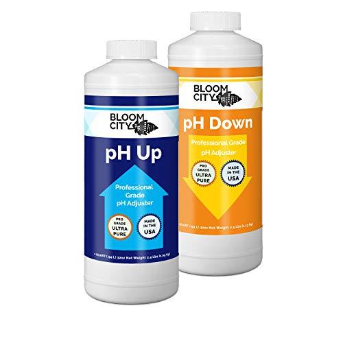 Bloom City Professional pH Up + Down Control Kit (Two 1 Quart Bottles) 64 Total oz