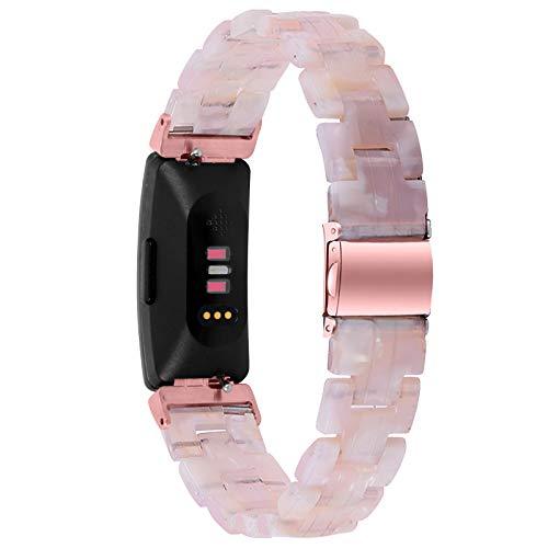 Miya System Ltd Cinturini Inspire HR, Cinturino di Ricambio in Resina Moda Fibbia in Metallo Bracciale Fitness Intelligente da Donna Cinturino per Inspire/Inspire HR/Ace 2 (M4)
