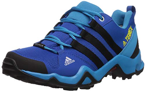 adidas outdoor Terrex AX2R CP Kids Hiking Shoe Boot, Blue Beauty/Black/Shock Yellow, 3.5 Child US Big