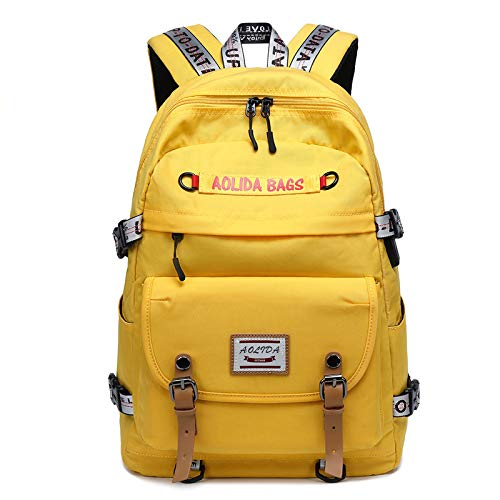 CMZ Backpack Middle School Student Schoolbag Female hit Color Stitching Backpack USB Large Capacity Outdoor Computer Backpack