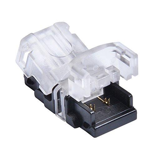 Nicelux LED-Anschluss fr 8 mm NICHT wasserdichte Streifenleuchte, 2-Pin-Platine fr Kabel LED-Bandspleiklemme, ohne Kabel, 10 Stck im Lieferumfang enthalten.