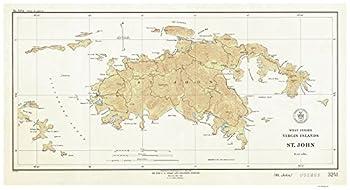 Saint John - 1934 Virgin Islands Topographical Map Reprint - Atlantic Harbors 3241