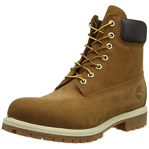 Timberland 6 Inch Premium, Stivali Uomo, Pelle, Larghezza scarpa: medium, Marrone (Rust Nubuck), 44 EU